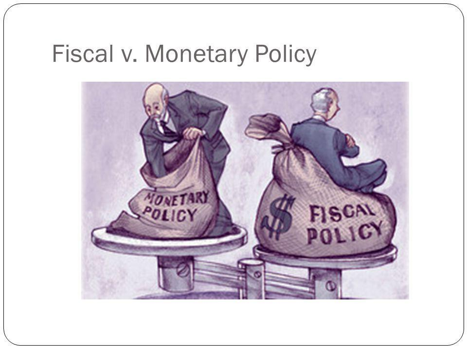 Fiscal v. Monetary Policy