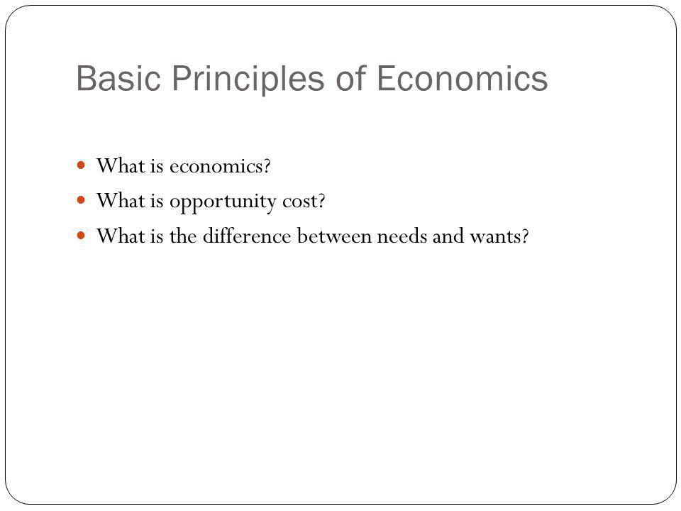 Basic Principles of Economics
