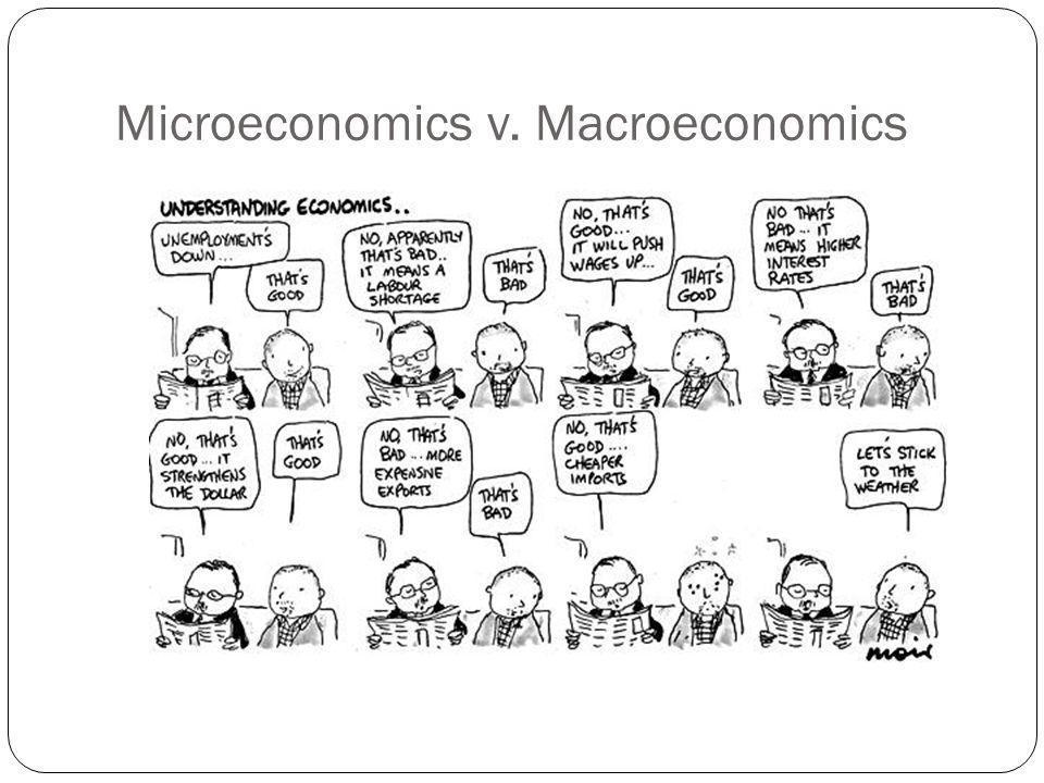 Microeconomics v. Macroeconomics