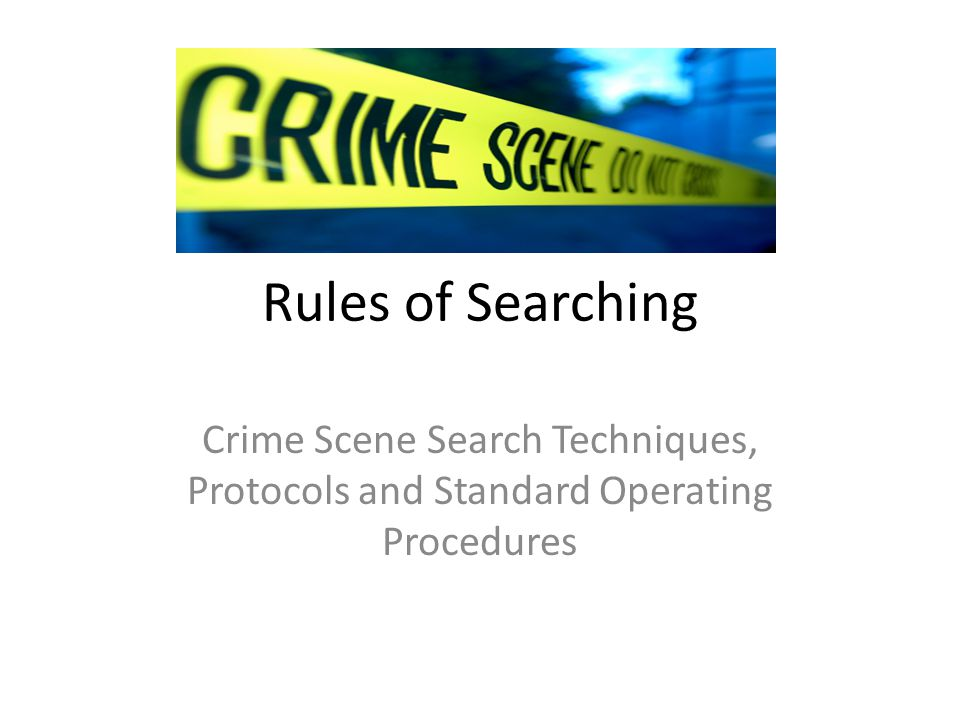 techniques of crime scene investigation pdf