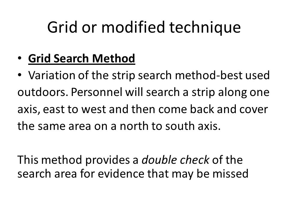 Grid or modified technique