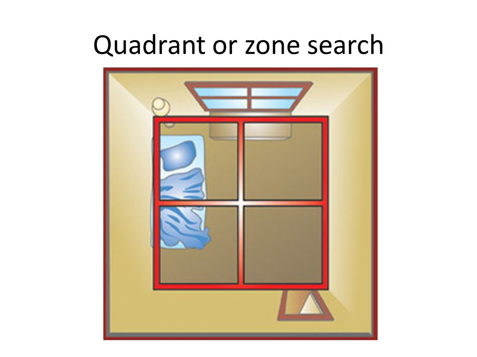 Quadrant or zone search