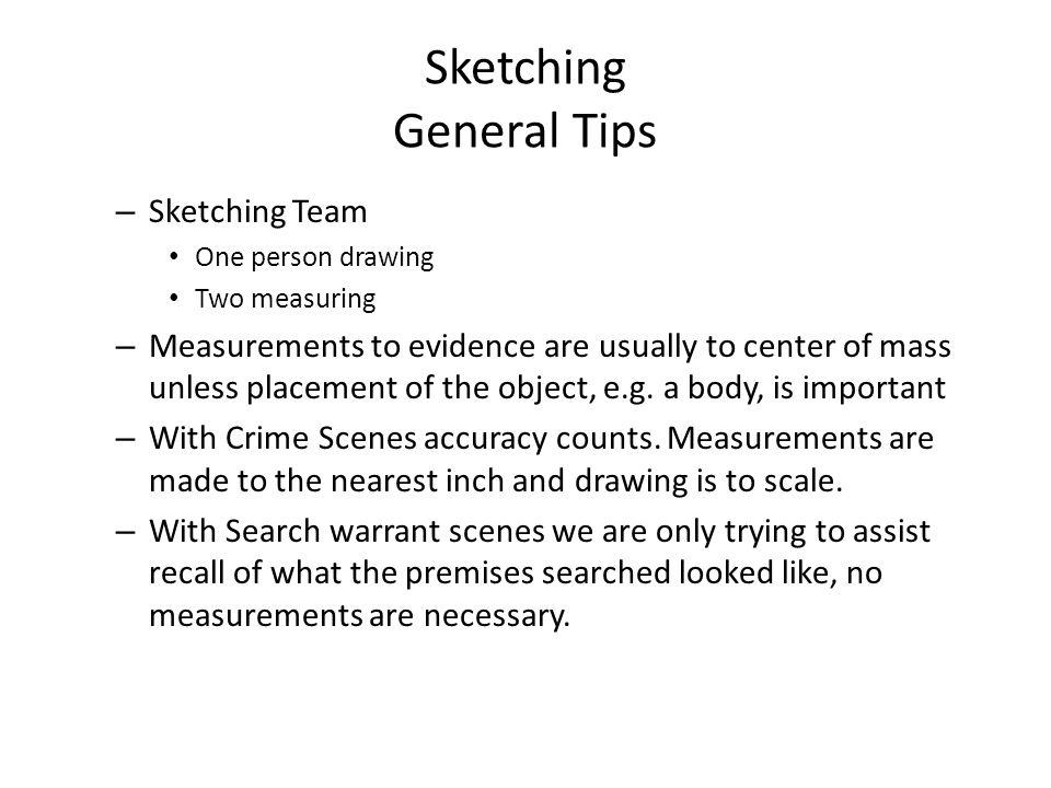 Sketching General Tips