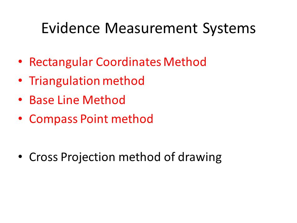 Evidence Measurement Systems