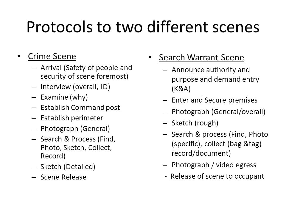 Protocols to two different scenes