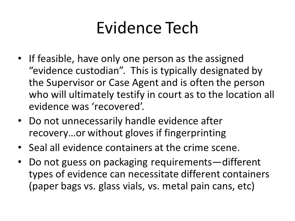 Evidence Tech
