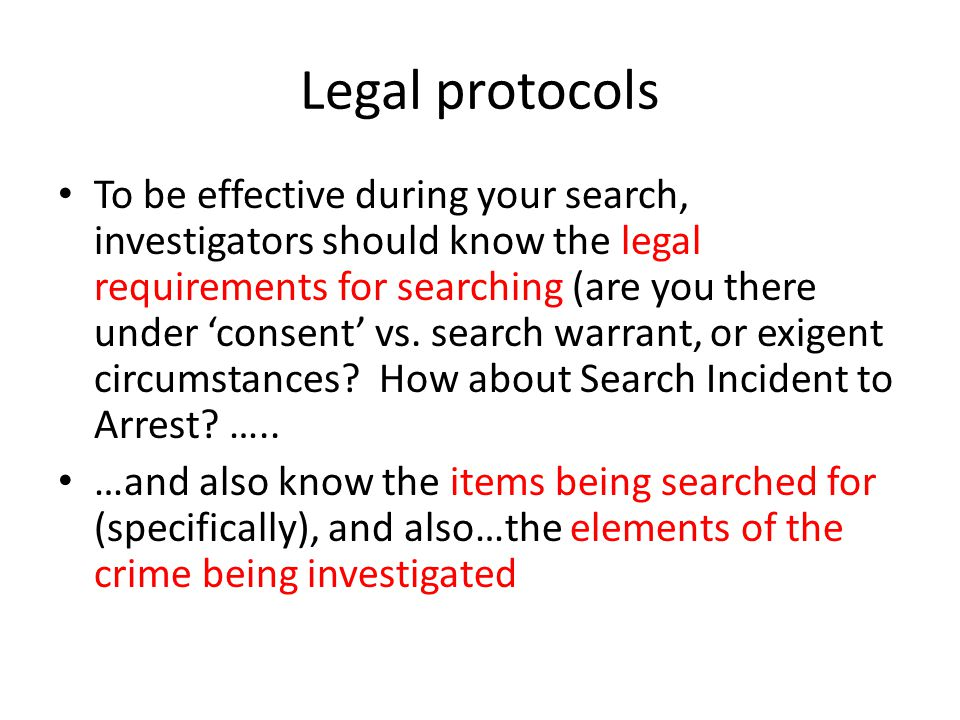 Legal protocols