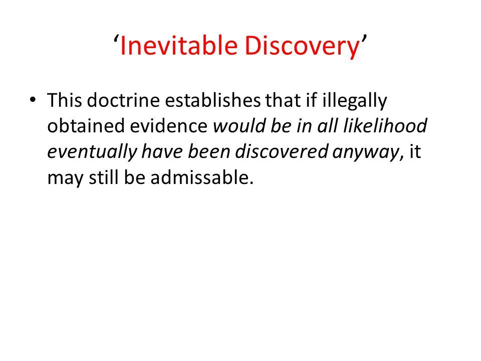 'Inevitable Discovery'