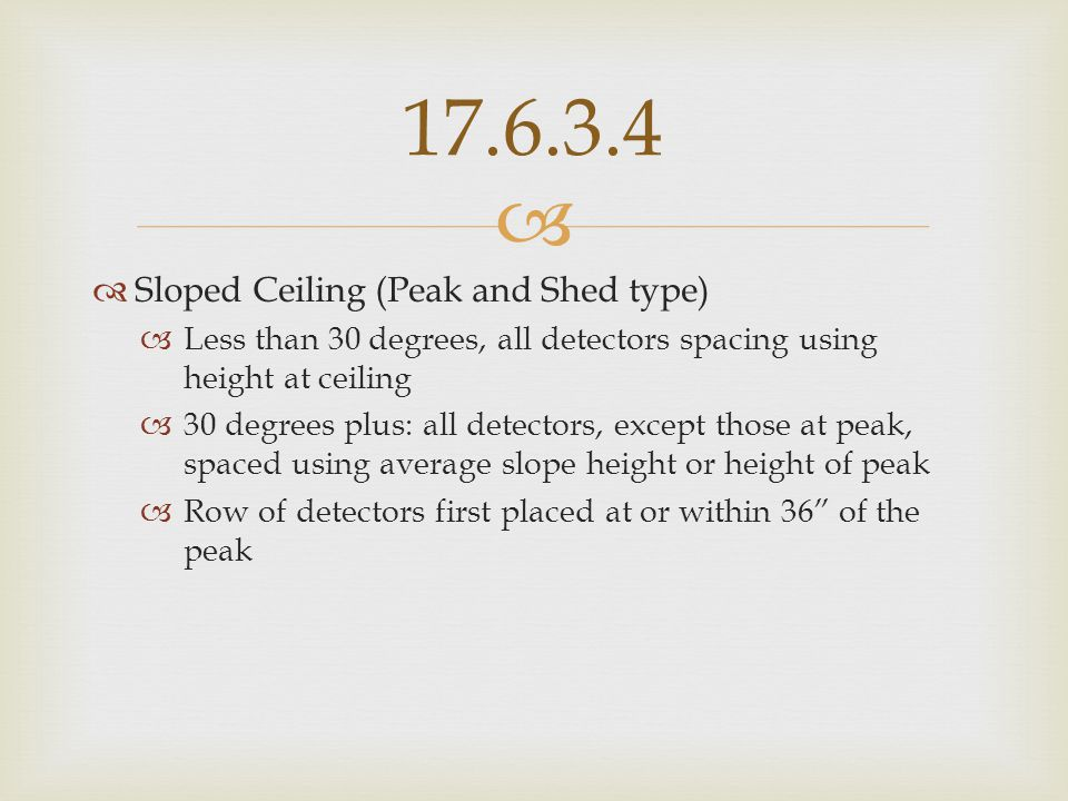 17.6.3.4 Sloped Ceiling (Peak and Shed type)