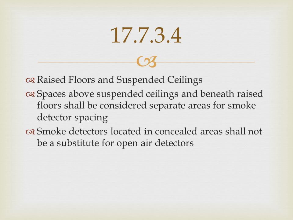 17.7.3.4 Raised Floors and Suspended Ceilings