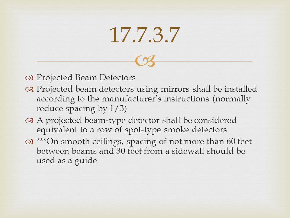 17.7.3.7 Projected Beam Detectors