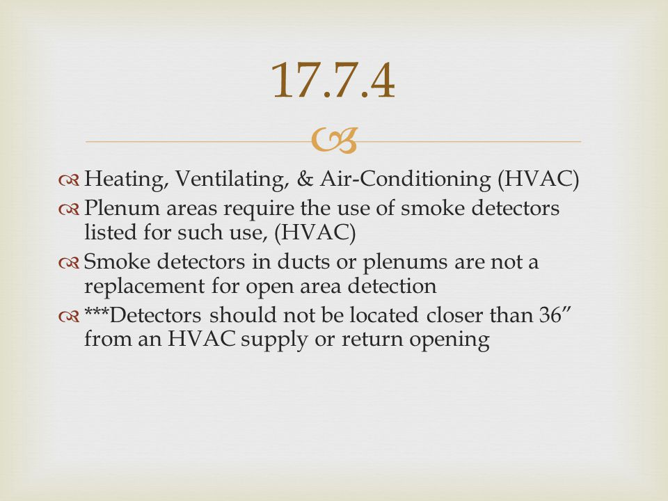 17.7.4 Heating, Ventilating, & Air-Conditioning (HVAC)