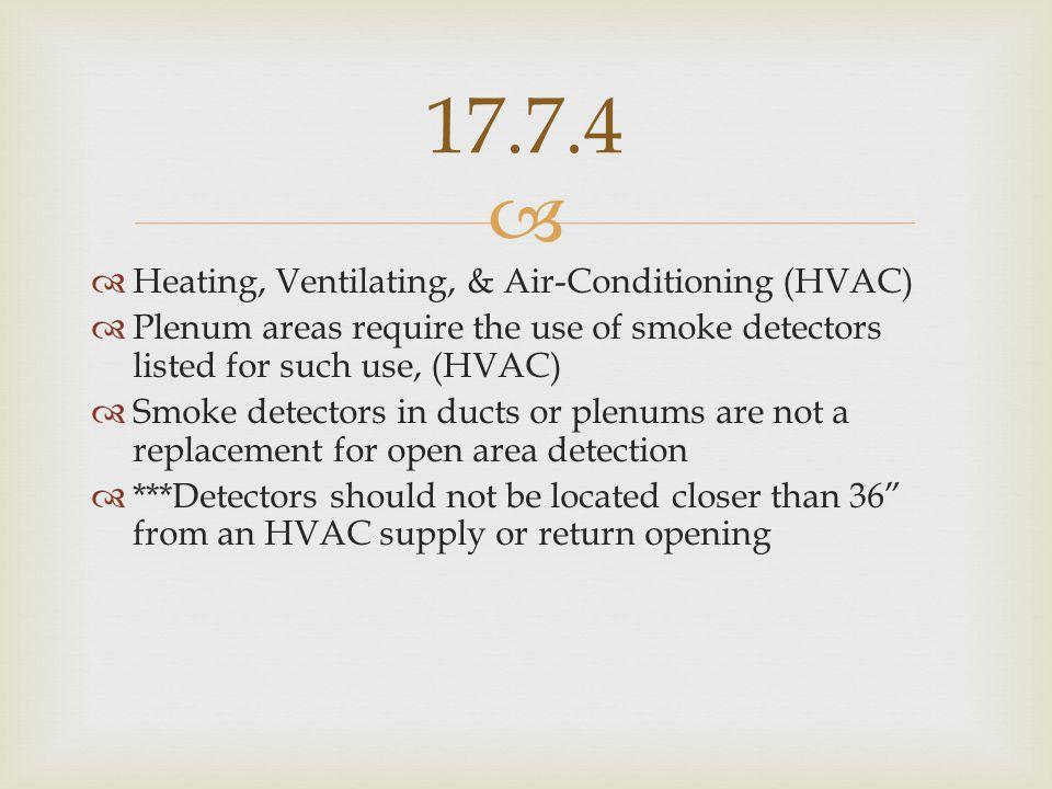 17.7.4 Heating, Ventilating, & Air-Conditioning (HVAC)