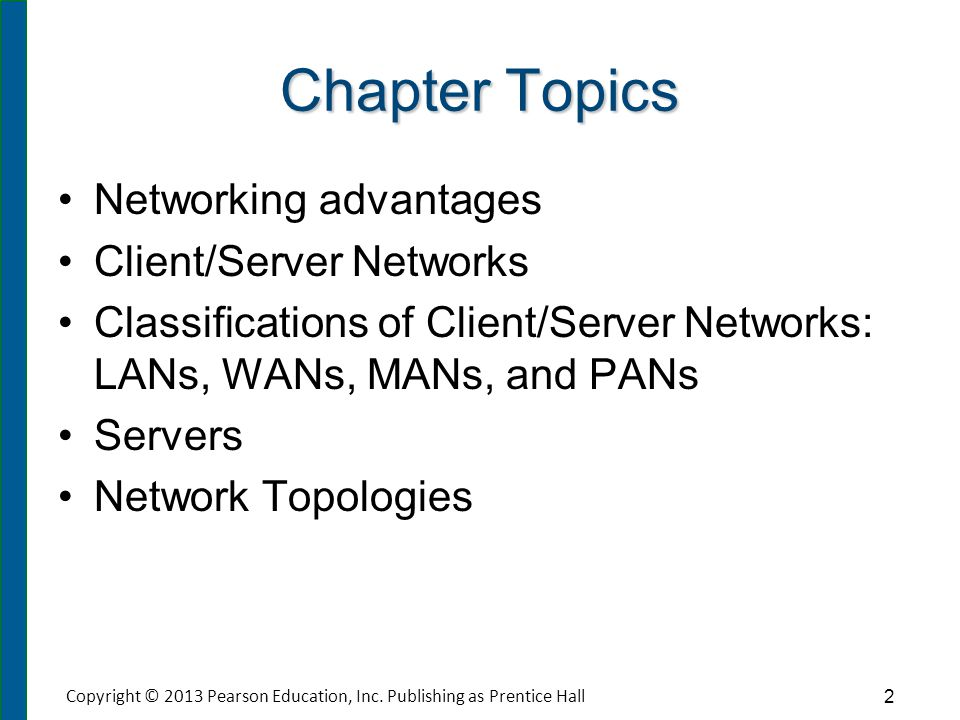 Chapter Topics (cont.) Transmission Media Network Operating Systems