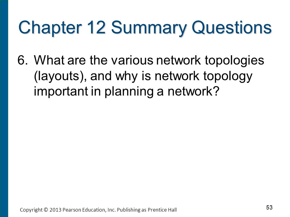 Chapter 12 Summary Questions