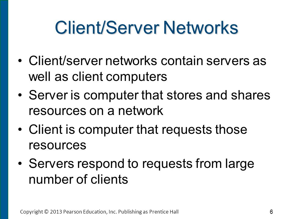 Classifications of Client/Server Networks