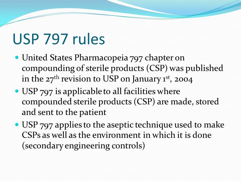 USP 797 rules