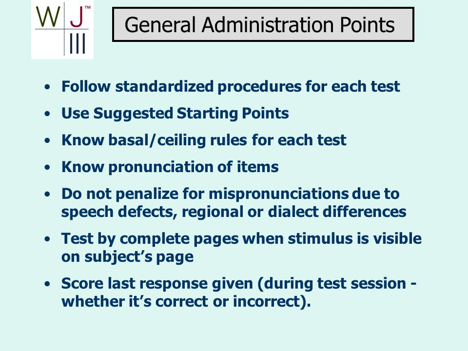 General Administration Points
