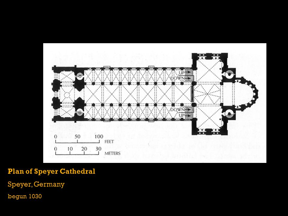 Plan of Speyer Cathedral Speyer, Germany