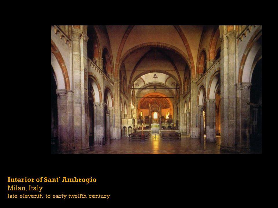 Interior of Sant' Ambrogio Milan, Italy