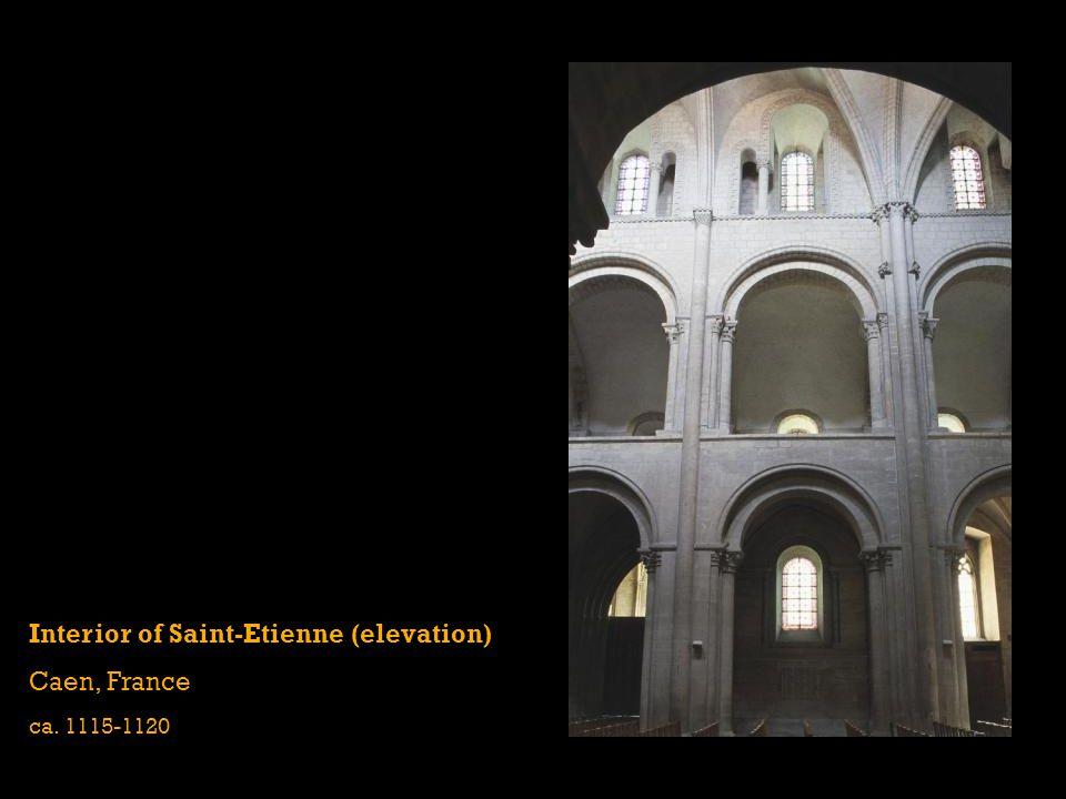 Interior of Saint-Etienne (elevation) Caen, France