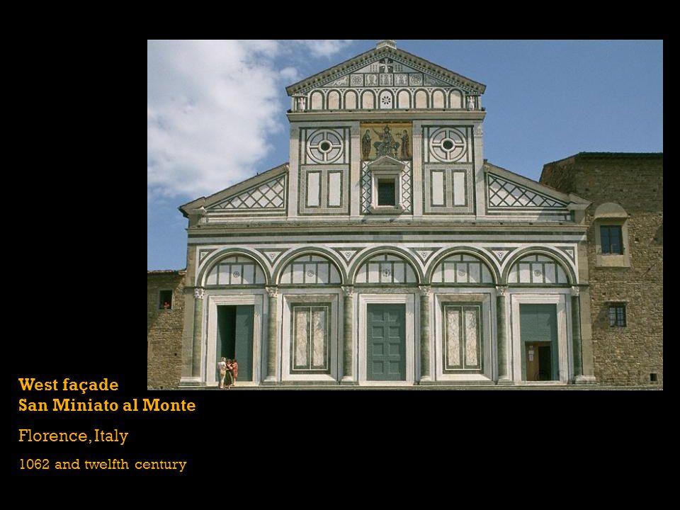 West façade San Miniato al Monte Florence, Italy