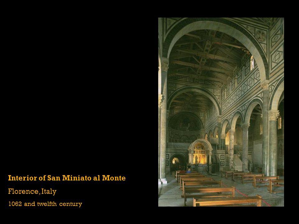 Interior of San Miniato al Monte Florence, Italy