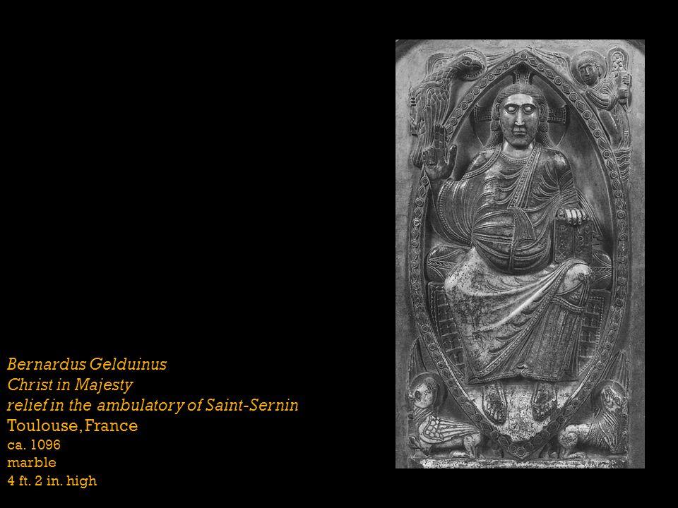 Christ in Majesty relief in the ambulatory of Saint-Sernin