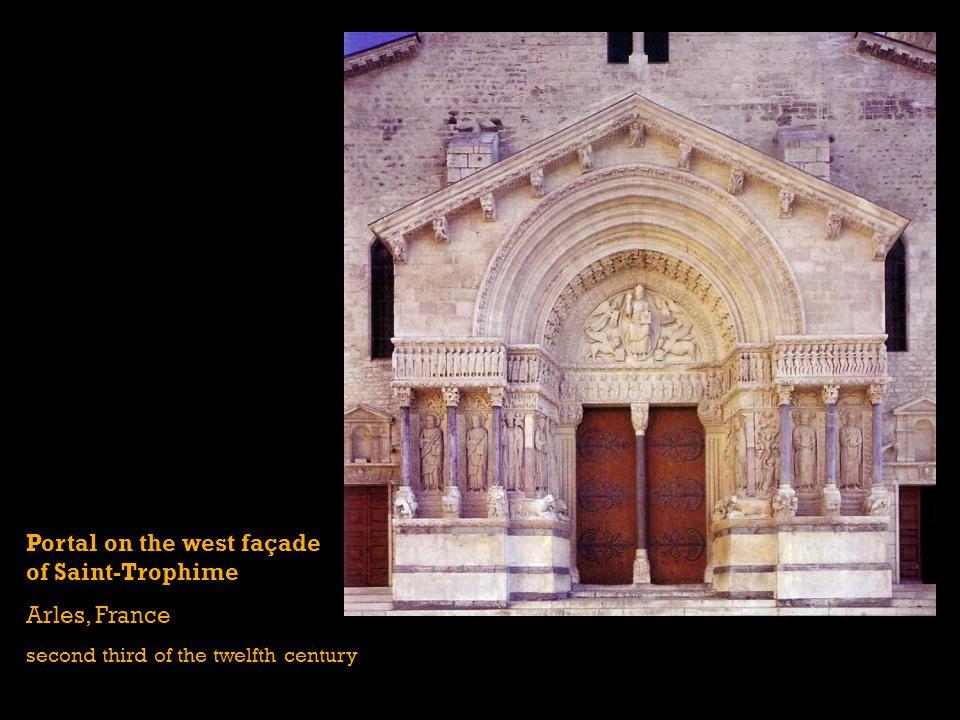 Portal on the west façade of Saint-Trophime Arles, France