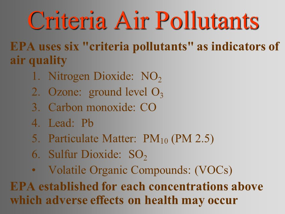 Criteria Air Pollutants