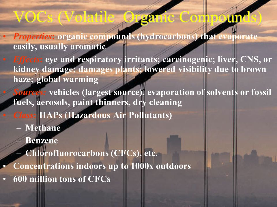 VOCs (Volatile Organic Compounds)