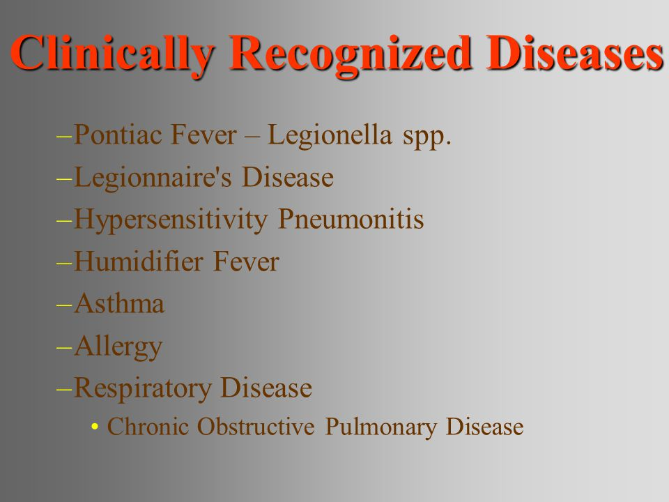 Clinically Recognized Diseases