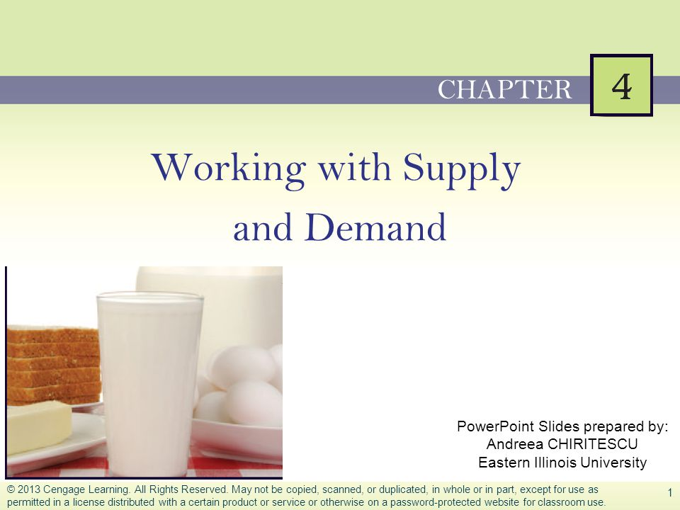 Working with Supply and Demand