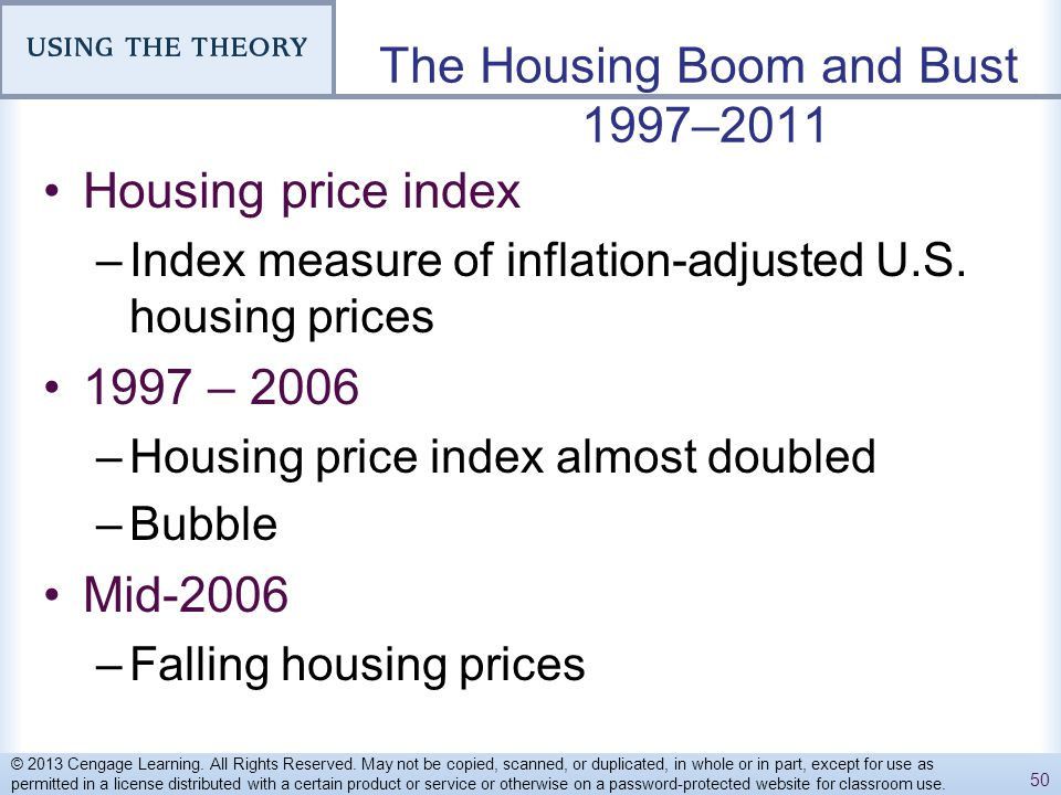 The Housing Boom and Bust 1997–2011