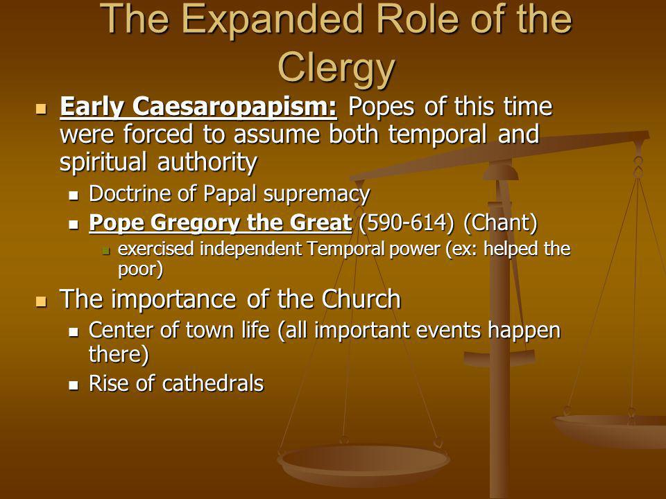 The Expanded Role of the Clergy