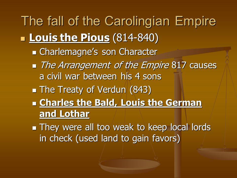 The fall of the Carolingian Empire
