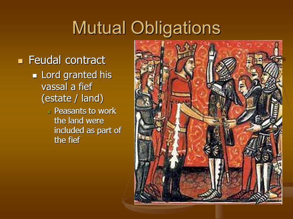 Mutual Obligations Feudal contract