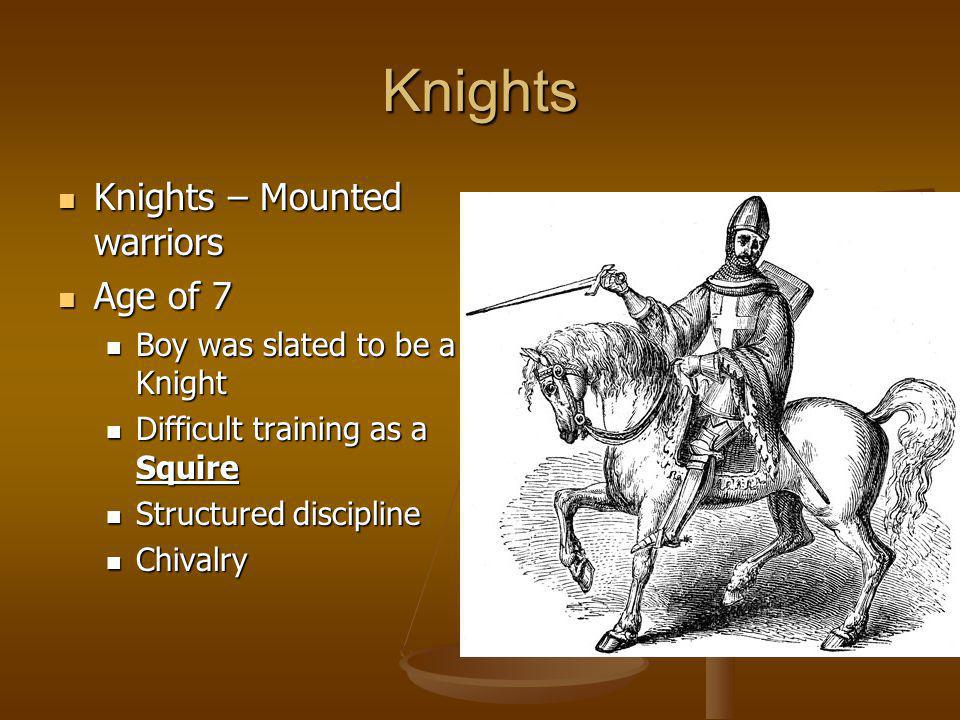 Knights Knights – Mounted warriors Age of 7