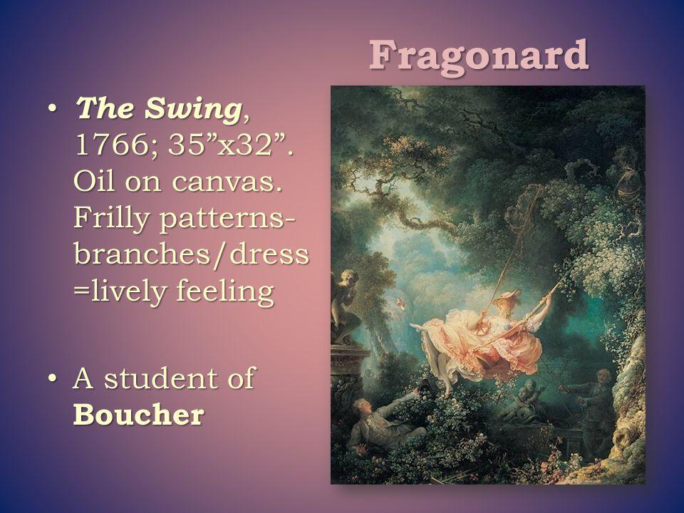 Fragonard The Swing, 1766; 35 x32 . Oil on canvas.