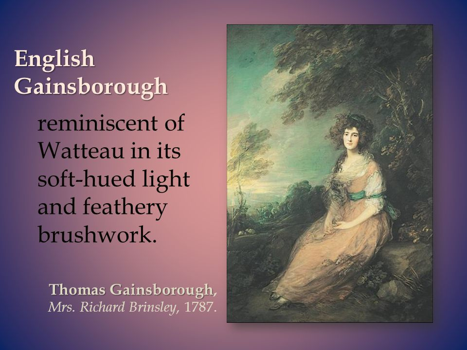 reminiscent of Watteau in its soft-hued light and feathery brushwork.