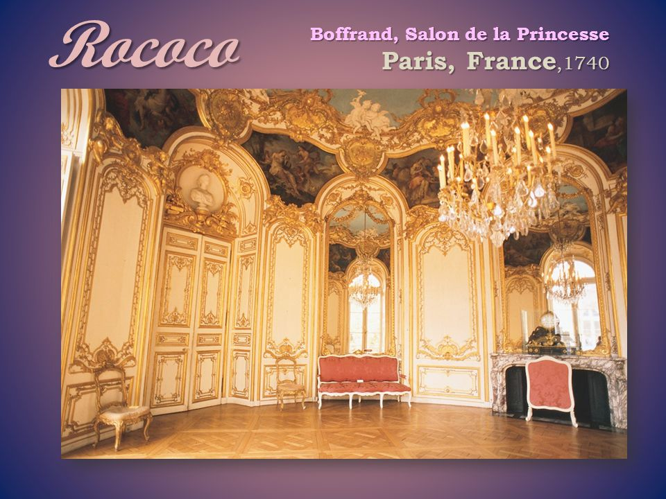 Rococo Boffrand, Salon de la Princesse Paris, France,1740