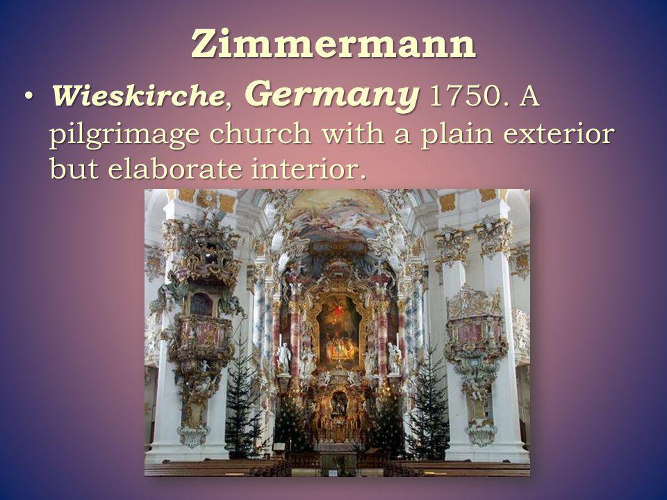 Zimmermann Wieskirche, Germany 1750.
