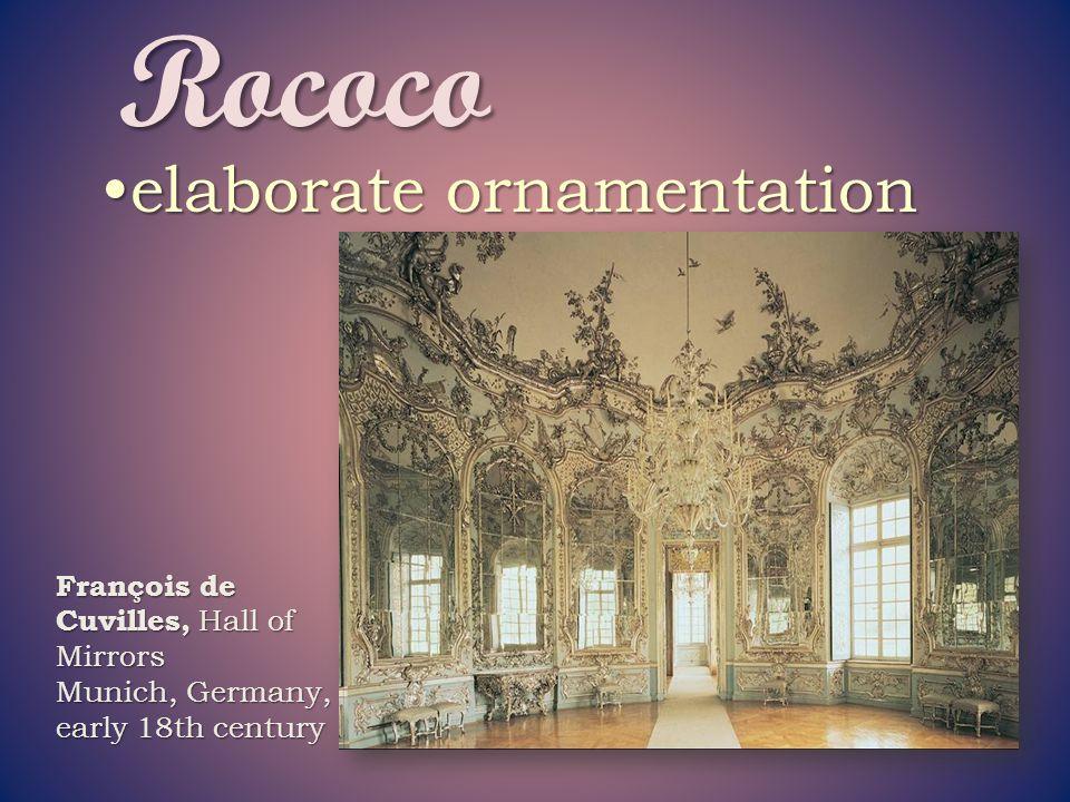 Rococo elaborate ornamentation François de Cuvilles, Hall of Mirrors