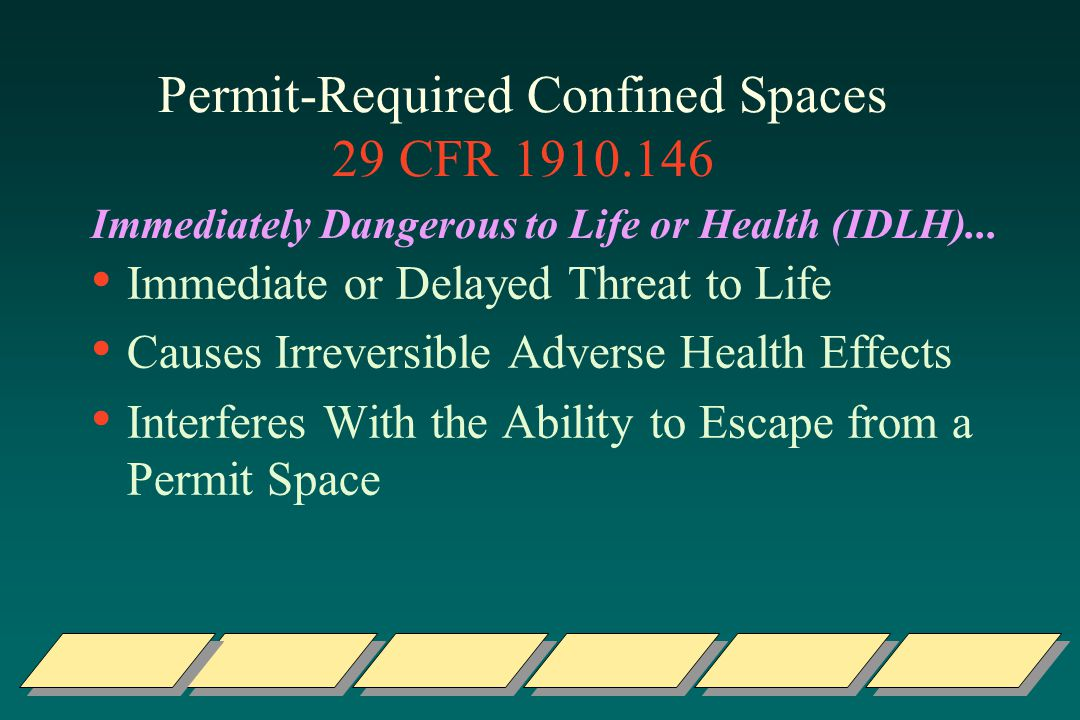 Permit-Required Confined Spaces 29 CFR 1910.146