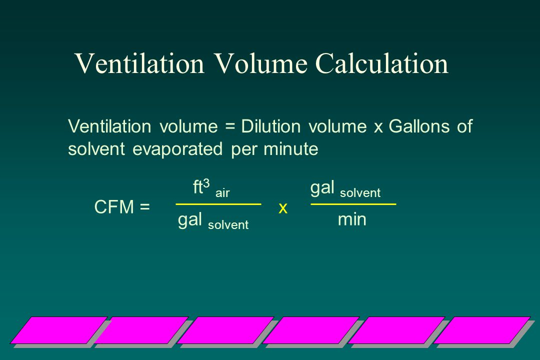 Ventilation Volume Calculation