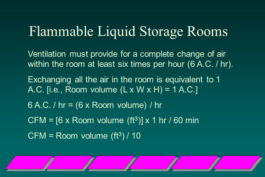 Flammable Liquid Storage Rooms