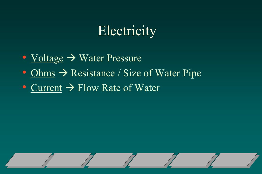 Electricity Voltage  Water Pressure