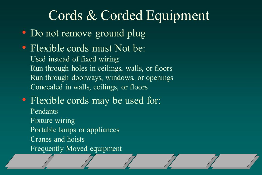 Cords & Corded Equipment