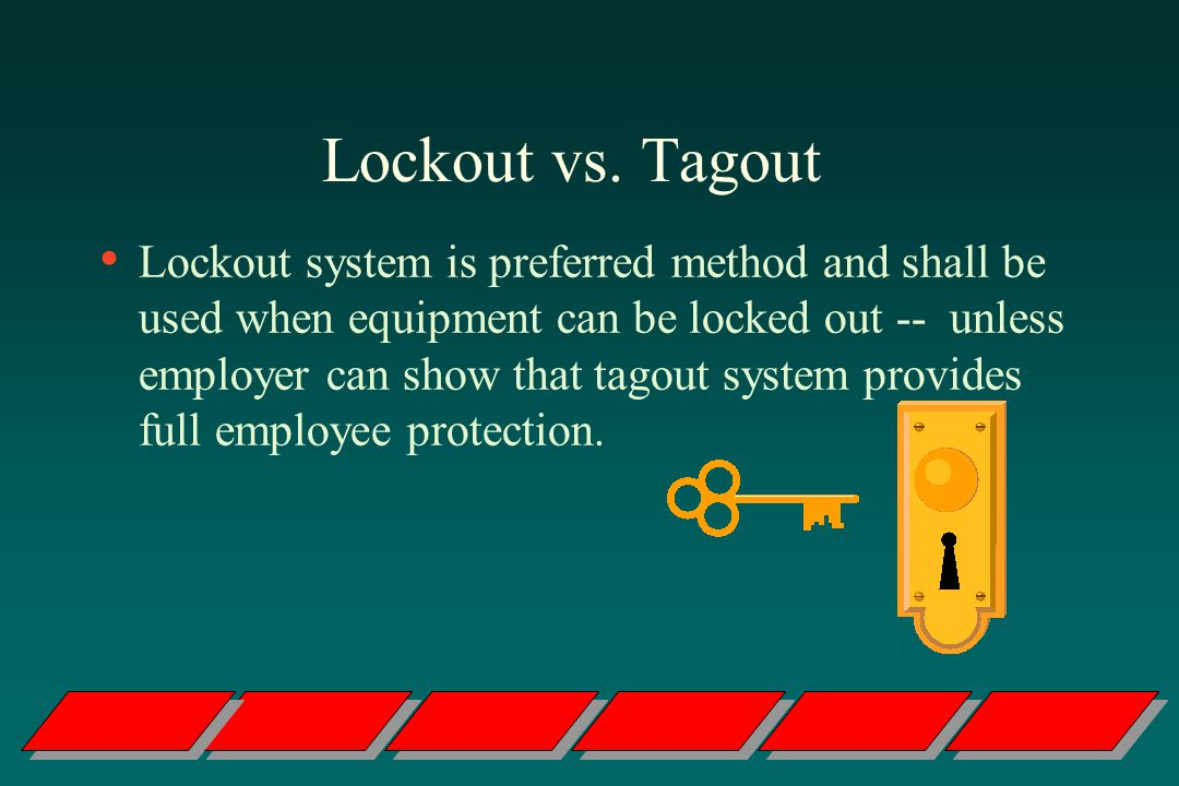 Lockout vs. Tagout
