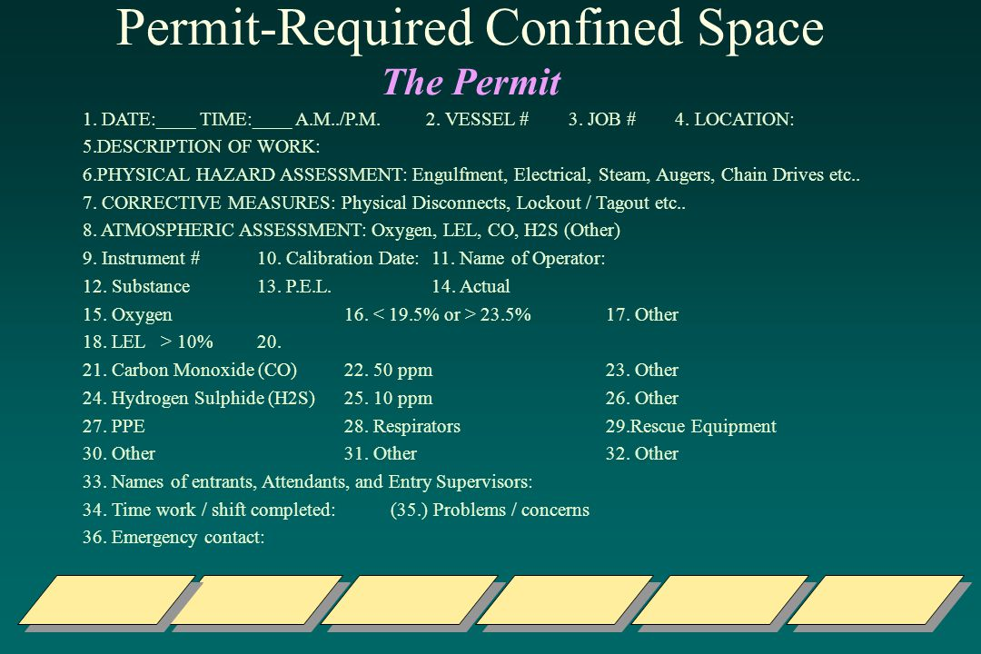 Permit-Required Confined Space The Permit